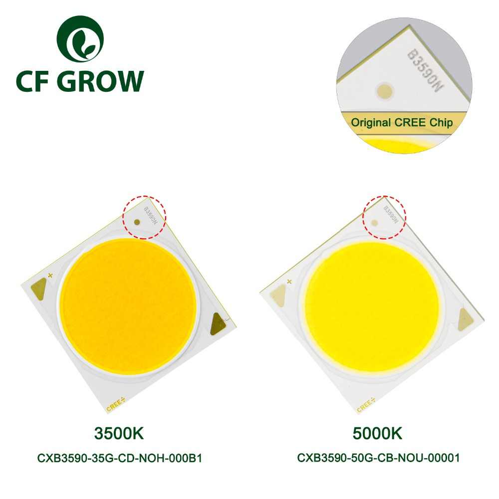 LED Grow Lights DIY CREE COB CXB3590 3500K 5000K Full Spectrum 12000LM Original Chip High Power Lumens for Plant Growing Lamp