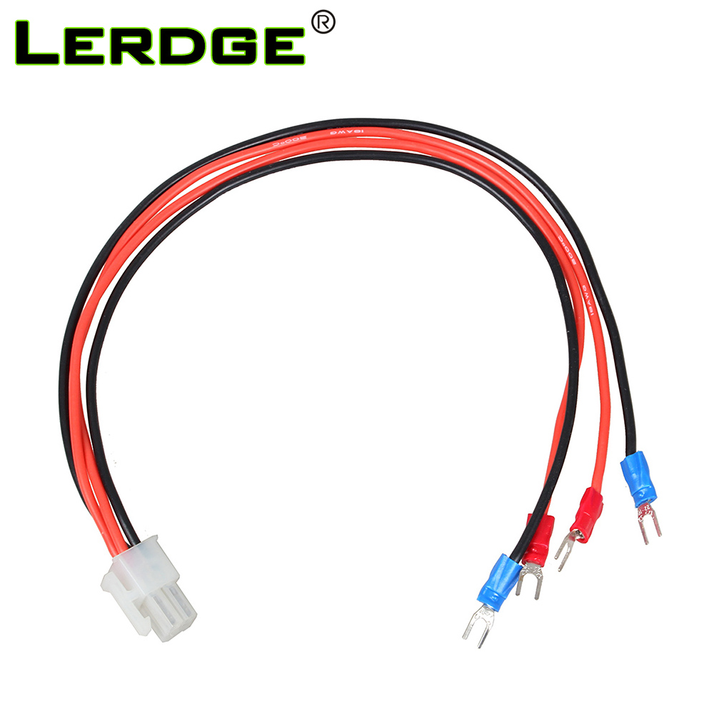 LERDGE 3D Printer Parts Power Cable Heated Bed Line Hot Bed Wires Soft Silicone Line 17AWG Length optional for Lerdge-S Board