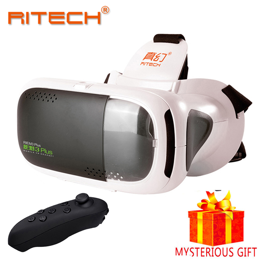 RITECH Casque Gerceklik Vr Box Virtual Reality Glasses 3 D 3d Goggles Headset Helmet For Smartphone Smart Phone Google Cardboard