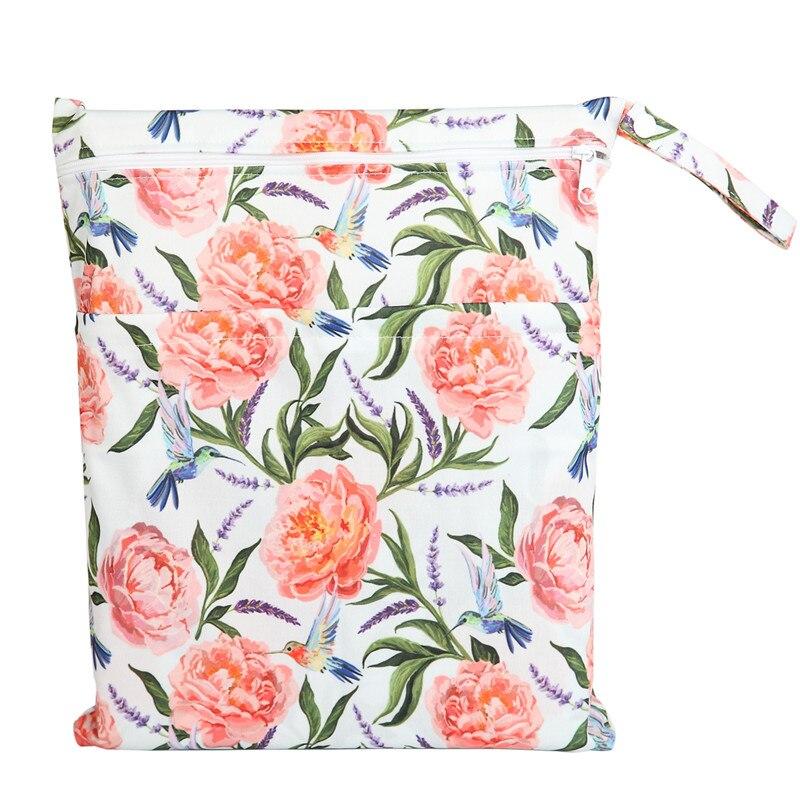 [Sigzagor] 1 Влажная сухая сумка с двумя молниями для детских подгузников, водонепроницаемая сумка для подгузников, розничная и, 36 см x 29 см, на выбор 1000 - Цвет: WH59