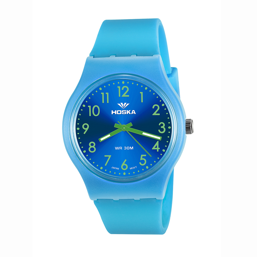 Бренд hoska спортивные женские часы кварцевые часы Женщины Студент Открытый водонепроницаемый Montre Femme кварц-часы Розовый