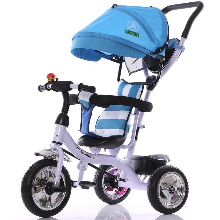 2017 nueva llegada buen precio paseo en bicicleta también triciclo carrito de bicicleta cochecito de bebé niños 1-3-5 bicicleta para niños de años - 4