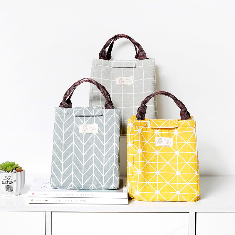 Geometric Design New Fresh Lunch Bags For Women Kids Food Cooler Lunch Box Tote Cooler Lunch Box Insulation Portable Tote Bags