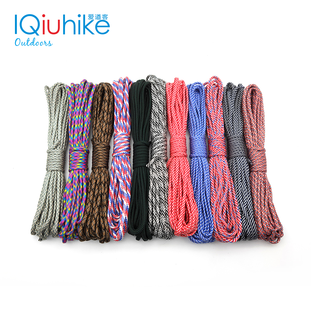 208 Colors 5meters Paracord 550 Paracord Parachute Cord Lanyard Rope Mil Spec Type III 7Strand  Climbing Camping Survival Tool