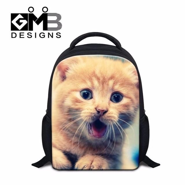 Dispalang funny cat dog print kindergarten nursery schoolbag satchel lovely  student packs small children school backpacks 302100bd51ced