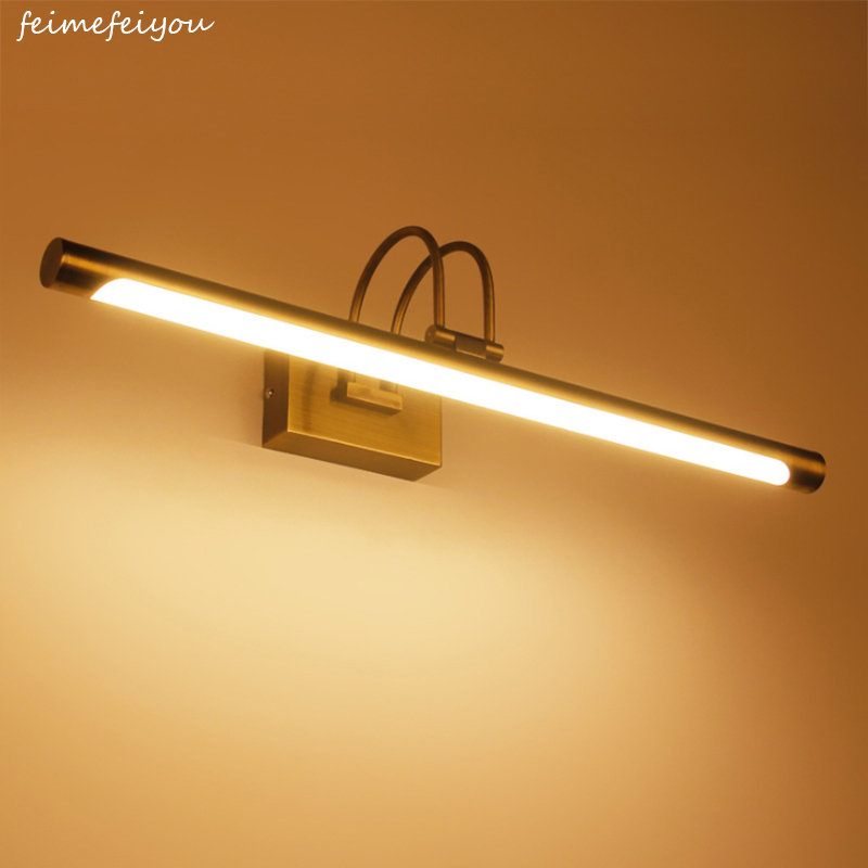 Feimefeiyou 42CM Bronze Bathroom Led Mirror Light Wall Mounted LED Bathroom Vanity Make-up Wall Lights Mirror Front Lamp 85-220V