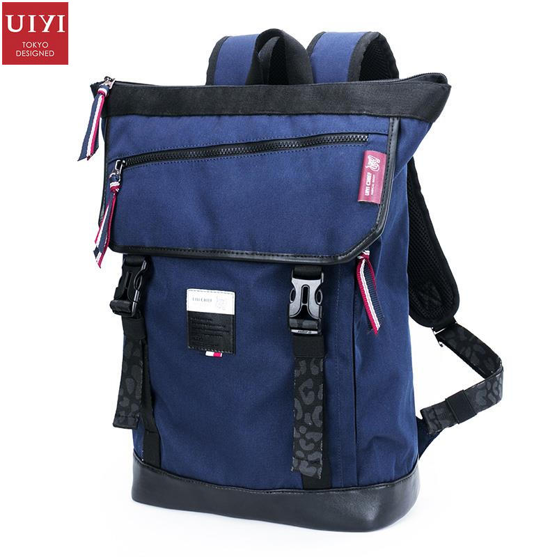 uiyi backpack men polyester microfiber pu leather patchwork backpacks for teenagers school rucksack school bags travel 160014 UIYI Women Men Blue Microfiber Synthetic Leather Waterproof Polyester Backpack For 14 Inch Laptop Travel School Bag 160017