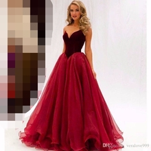 Wine Red Long Evening Dress 2019 robe de soiree Lebanon red carpet Sweetheart Prom Dresses vestidos festa formal dress