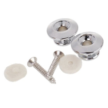 2pcs Strap Button w/ Mounting Screw for Guitar Mandolin—Silver