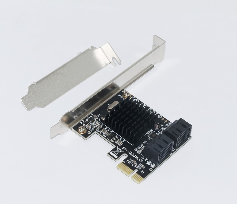 Купить с кэшбэком BTBcoin Add On Cards PCI-E/PCIE SATA 3 PCI Express SATA Controller PCIE to SATA 3.0 Card Hub Adapter 88SE9215 Chip for SSD & HDD