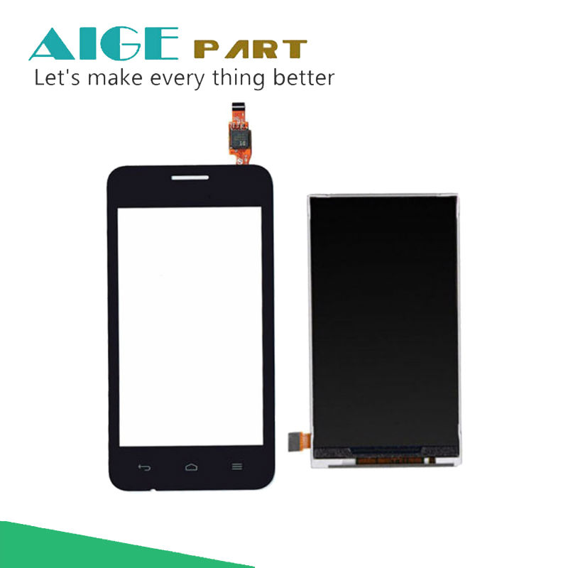 4.0 Black LCD Display + Touch Screen Digitizer Glass Sensor For Huawei Ascend Y330 U00 U01 Replacement Free Shipping 800*480