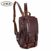 JMD Genunie Leather Multiple Backpack Women Simple Patchwork School Bags 2002C