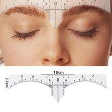 10PC Reusable Semi Permanent Eyebrow RulerMicroblading Calliper Stencil Makeup Eye Brow Measure Tool Eyebrow Guide Ruler недорого