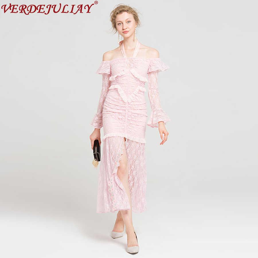 452f6978ad5 Милые женские платья для женщин осень 2019 Мода Новые кружево Новинка  Холтер Slash средства ухода за
