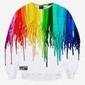 Hot model Europe and America fashion 7 colors pigment printing 3D sweatshirts Men hoodies casual sweatshirts