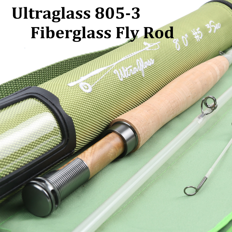 Maximumcatch High Quality 5wt 6wt Blue Orange Clear Fly Rod Transparent Fiberglass Fishing Rod With Cordura
