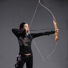 20-40lbs Hunting Shooting Bow Wooden Practice Recurve Bow Child Women Men Outdoor Hunting Take Down Bow Sports Game недорого