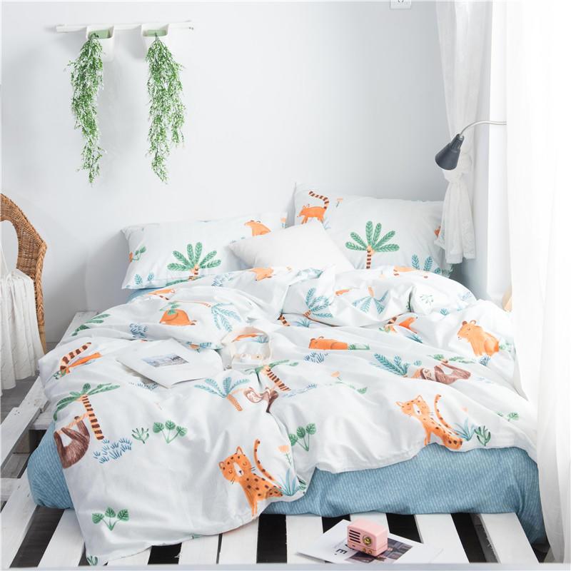 100% baumwolle Ultra soft Alle Saison Bettwäsche set Twin Königin größe für Kinder Jugendliche bettbezug Gummi Fittted blatt oder flache blatt-in Bettwäsche-Sets aus Heim und Garten bei  Gruppe 1