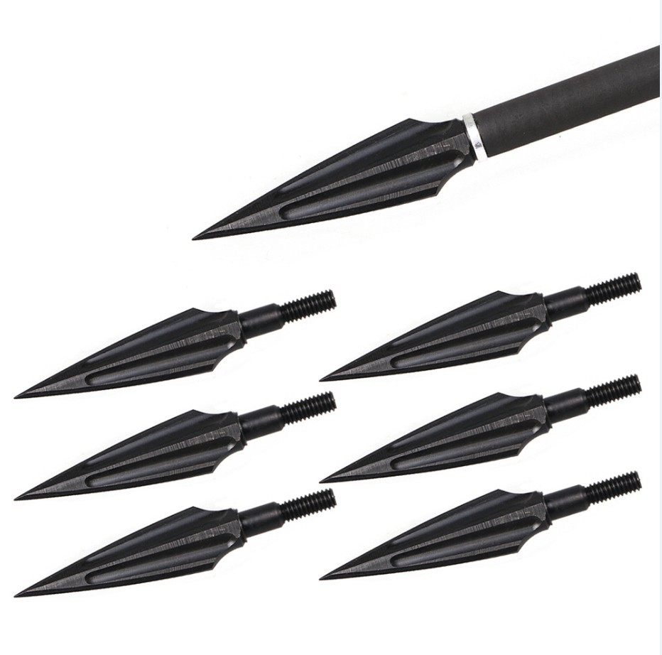 3/6/9pcs High Steel Archery Arrowheads Compound Recurve Arrow Heads Tips Broadheads  Hunting Bow  Accessories Blind