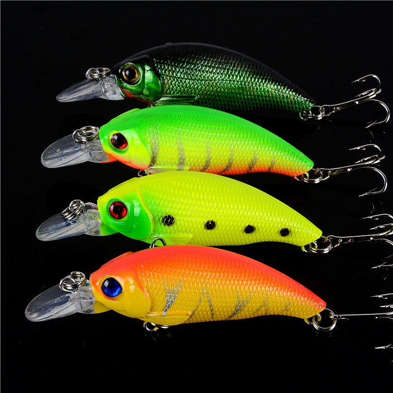 New Arrival 4PCS 7.5cm 8.3g Crank Bait Fishing Lures Minnow Hard Bait Plastic Fish Crankbaits Peche Pesca Isca Artificial Hooks new hard plastic fishing lures crank