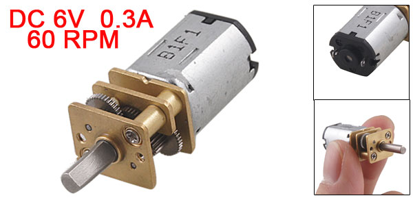 UXCELL 60RPM 6V 0 3A High Torque Mini Electric DC Geared Motor for Robot DIY Hot Sale in DC Motor from Home Improvement