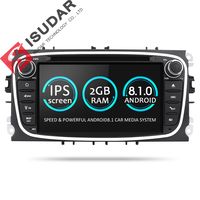 Isudar Автомагнитола 2 Din с 7 дюймовым экраном на android 7.1 для Автомобилей FORD/Focus/S MAX/Mondeo/C MAX/Galaxy Радио DSP