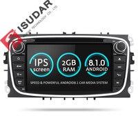 Isudar Универсальная штатная Автомагнитола навигация 2 Din с 7 дюймовым экраном на android 8.1 для Автомобилей FORD/Focus/S MAX/Mondeo/C MAX/Galaxy Радио DSP