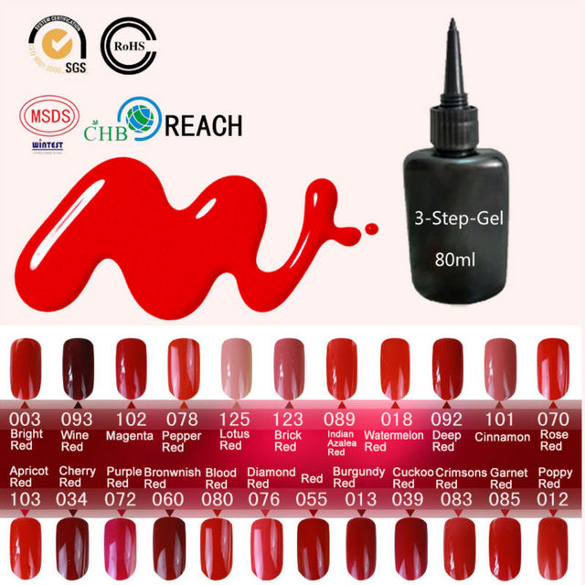 23 Charming Red Gel for Nail Varnish Blinkingel Esmaltes Permanentes de UV Nail Gel Polish 80ml Gel Paint Nail Polish Nail Glue