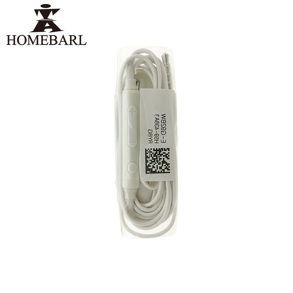 HOMEBARL Support High Quality,20Pcs/Lot J5 S4 S6 Headsets Earphones Braided Music Headphones Hands-free For Samsung Galaxy Mic