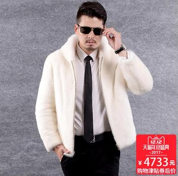 Autumn Hooded faux leather jacket mens mink clothes winter thicken warm fur leather coat men jackets jaqueta de couro white 3XL autumn faux mink leather jacket mens winter thicken warm fur leather coat men slim jackets jaqueta couro fashion big fur collar