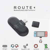 ROUTE Wireless Bluetooth 3.0 EDR TYPE C HiFi Adapter Audio USB Transmitter Transceiver Headset For Nintend Switch for PC Laptop