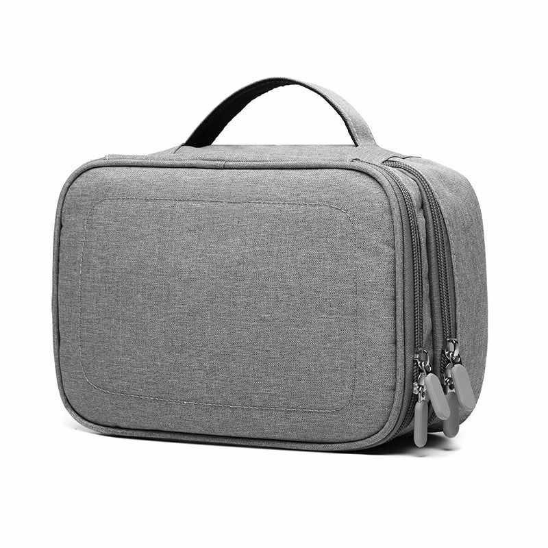 Aksesoris Tas Gadget Tas Perjalanan Kabel Case Elektronik Organizer untuk iPad/Charger/Kabel/Powerbank/Keras drive