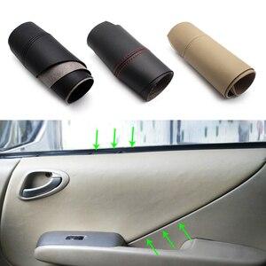 Image 1 - Apoyabrazos para puerta de coche, Panel de microfibra, cubierta de cuero, para Honda Fit / Jazz 2004 2005 2006 2007