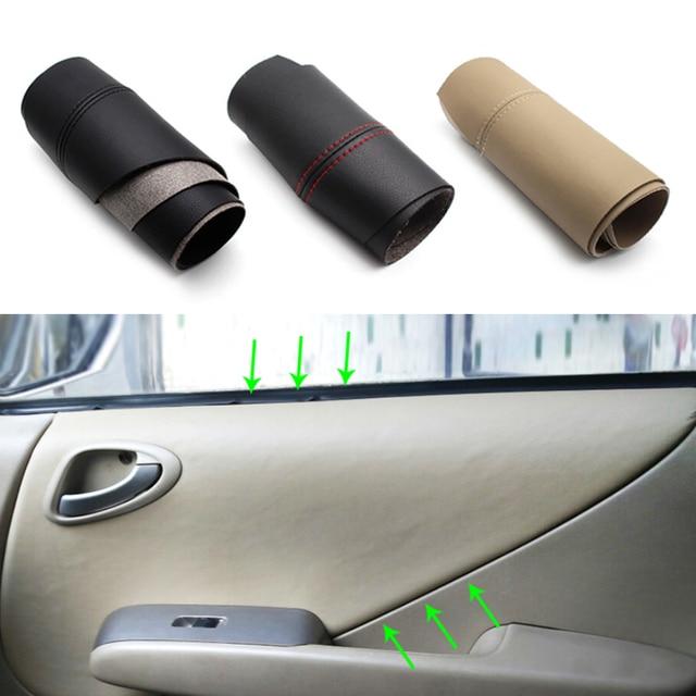Apoyabrazos para puerta de coche, Panel de microfibra, cubierta de cuero, para Honda Fit / Jazz 2004 2005 2006 2007