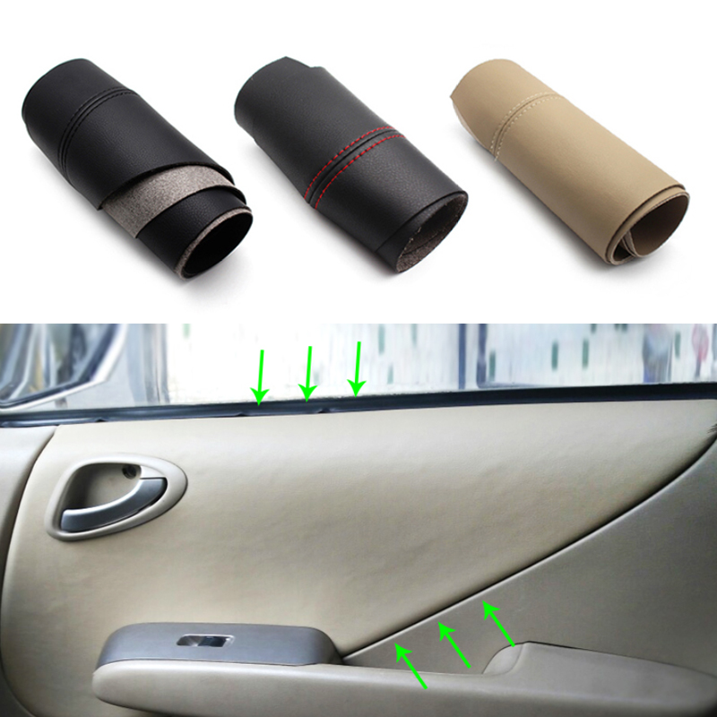 For Honda Fit / Jazz 2004 2005 2006 2007 Car Door Handle Armrest Panel Microfiber Leather Cover-in Interior Mouldings from Automobiles & Motorcycles