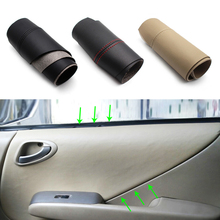 For Honda Fit / Jazz 2004 2005 2006 2007 Car Door Handle Armrest Panel Microfiber Leather Cover