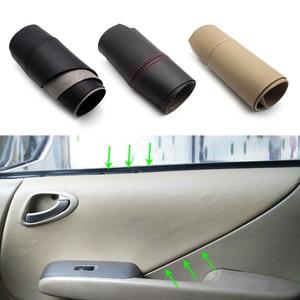 Image 1 - For Honda Fit / Jazz 2004 2005 2006 2007 Car Door Handle Armrest Panel Microfiber Leather Cover