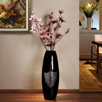 Living room modern minimalist ceramic floor large vase creative home decoration new house wedding TV cabinet