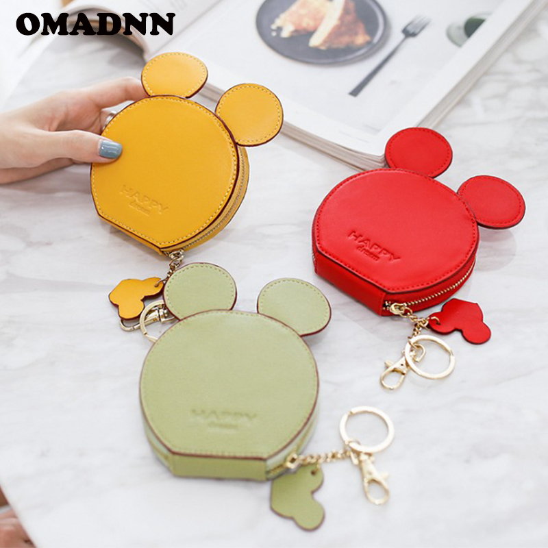 OMADNN Korean Mini Cute Student Coin Purses Teenage Girl Change Pocket Card Package Lady Coin Bag Female Wallet Have Pothook