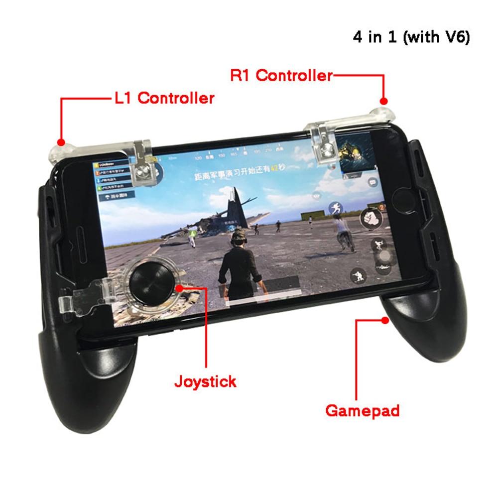 4 in 1 Free Fire PUBG Mobile Controller Gamepad Trigger Butt