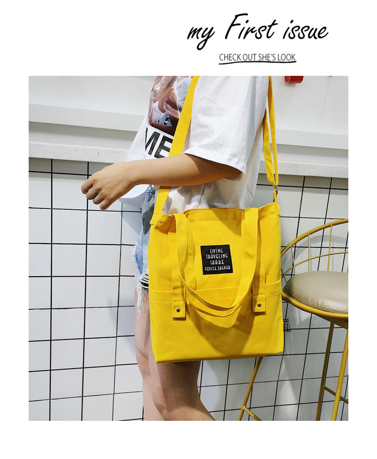 New High quality canvas bag Totes Bucket Bags single shoulder messenger bag female youth leisure colorful small handbag Student