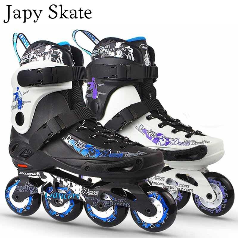 Prix pour Jus japy Skate Dancer Patins À Roues Alignées Coulissante Avec 88A Dureté Roues Professionnel Adulte À Rouleaux Chaussures De Patinage Slalom Livraison De Patinage