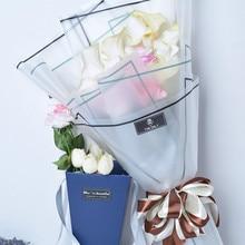Полупрозрачная Водонепроницаемая оберточная бумага для цветов Упаковка букета для цветов материалы для украшения цветов Упаковка для цветов 10 шт