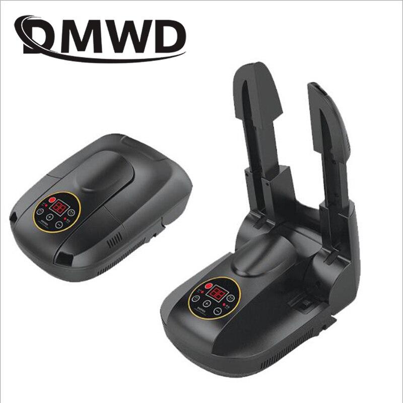 DMWD 110V 220V Bake Shoe Device Drying Machine Ozone Sterilizer Folding Electric Shoes Dryer Warm Boots Gloves Deodorant Heater