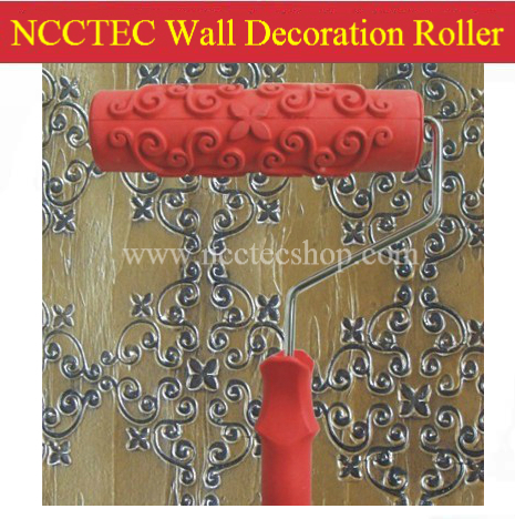 7'' 180mm NCCTEC wall decoration paint roller with handle | FREE shipping 244 sorts | use it to do flower Pattern on the wall  цены