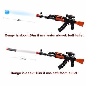Image 2 - لعبة بندقية الاعتداء الكلاسيكية AK 47 ، بندقية رماية لينة للرصاص ماصة للماء ، بندقية لعبة للأولاد ، أفضل هدية