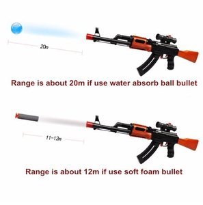 Image 2 - Classic AK 47 Assault Rifle Toy Gun Shooting Soft Bullet Water Absorbent Bullet Blaster Gun Toy Boys Best Gift