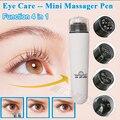 2015 Novo Mini Electric Eye Massager Vibração Função 4 em 1 Anti-aging remover rugas dos olhos bolsa Cuidados Com Os Olhos máquina da beleza