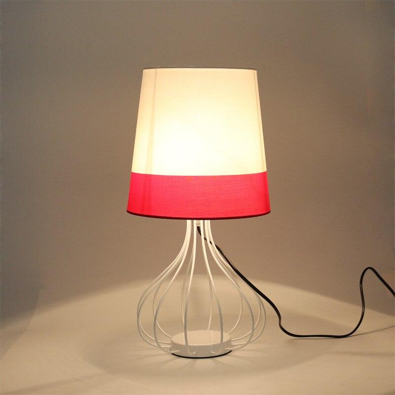 Туда 46x25 см современный минималистский Стиль настольная лампа fabirc Абажур Настольная лампа для Спальня ночники Книги по искусству моды личн...