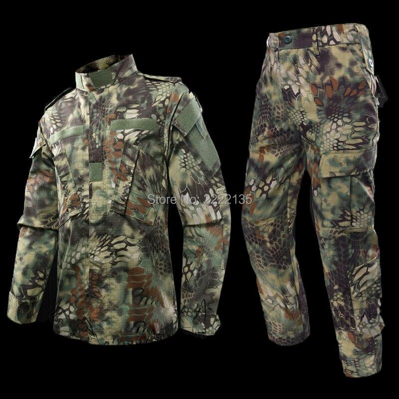 Tactique US armée Camouflage Combat uniforme hommes ACU Multicam Camo militaire vêtements ensemble Airsoft extérieur veste + pantalon Multicam